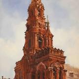 Колокольня Богоявленского собора 2015 х.м. 90х50 Художник Ильяс Айдаров
