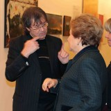 Ильяс Айдаров и Наина Ельцина на выставке в Манеже