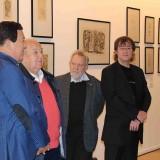 ИИльяс Айдаров с гостями выставки в Манеже