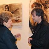 Наина Ельцина и Ильяс Айдаров у портрета Эрнста Неизвестного