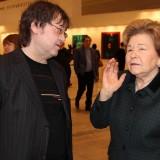Художник Ильяс Айдаров и супруга первого президента России Наина Ельцина